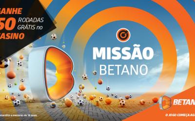 Ganhe 50 Rodadas Grátis com a Missão da Betano