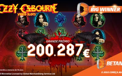 Jogador ganhou mais de 200 mil euros numa slot do Casino Betano!