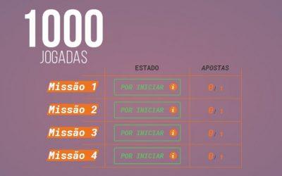 Missão 1000 Rodadas Grátis!